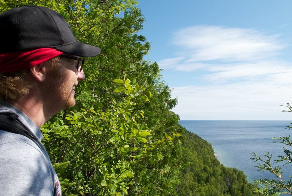 Dave Pauls looks out to the southeast over Georgian Bay