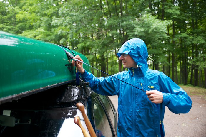 When it's raining hard and you are stuck in the elements, make sure to have a Helium HD jacket handy