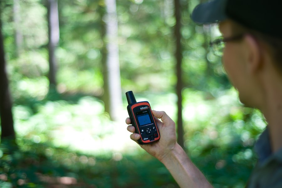 The inReach Explorer is very solid, weighs 190 grams, and has a built-in belt-clip