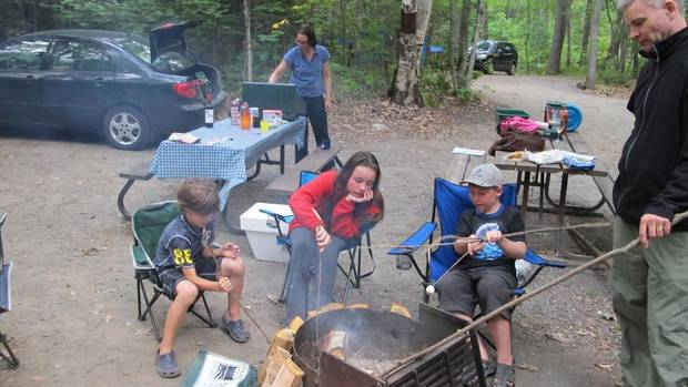 Car camping in Killarney Provincial Park, Ontario. ©Adam Bisby