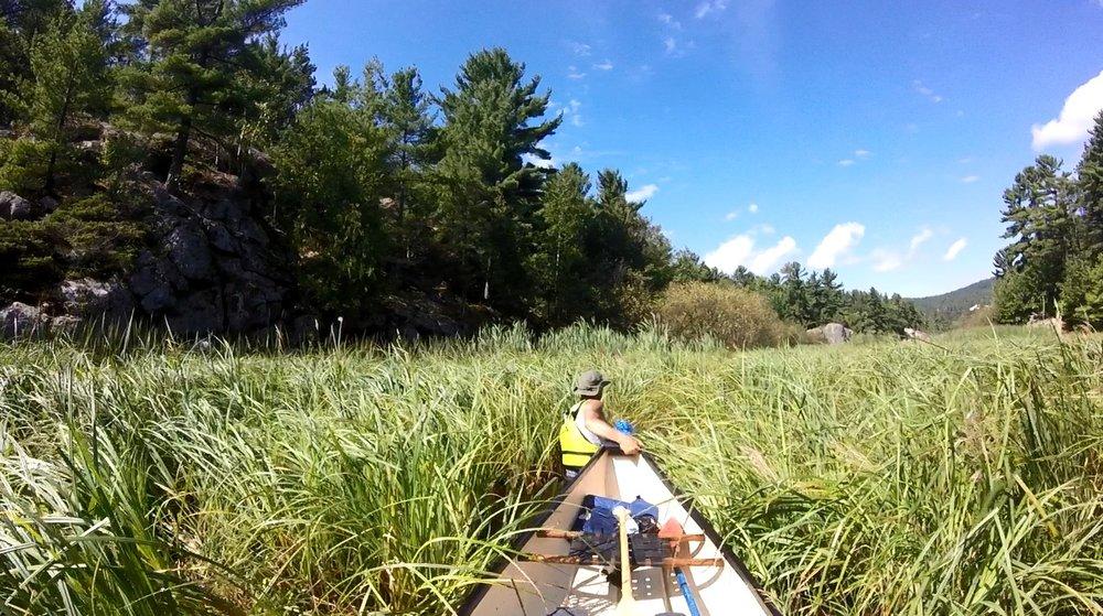 Keith Brown -Skipping the portage in Killarney Provincial Park in Ontario