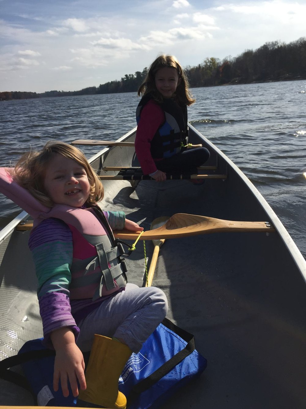 Jeff Dean - The Ottawa River with my 2 daughters