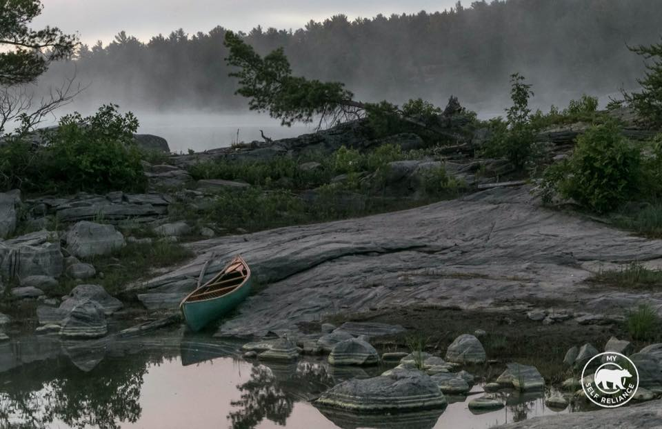 Shawn James - Solo misty morning trip on the French River, Ontario