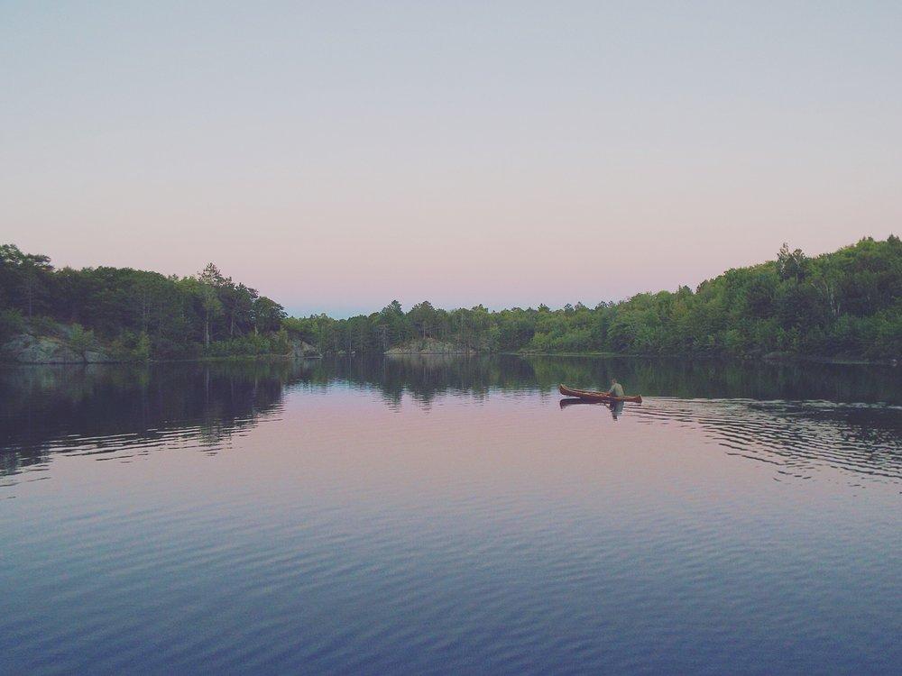 Zac Veenstra -Smudge Lake Ontario Canada in the Queen Elizabeth II Wildlands Provinvial Park