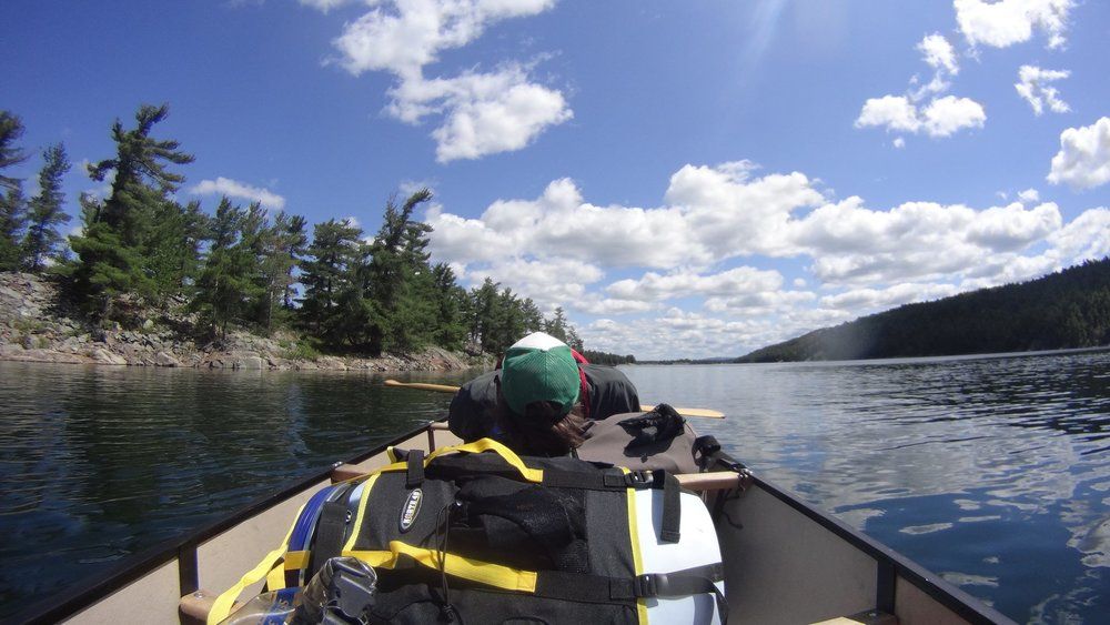 Hailey Sonntag - Taking a break on MacGregor Bay in Killarney P.P!