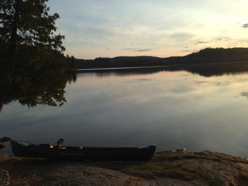 Curtis Lafleche - Sunrise comes early On May long weekend 2016 Temagami, ON