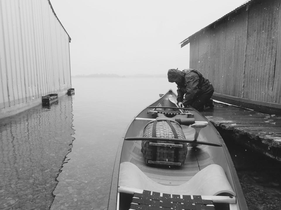 Dee Helseth -Last paddle of 2017 Clearwater Lake NW Ontario