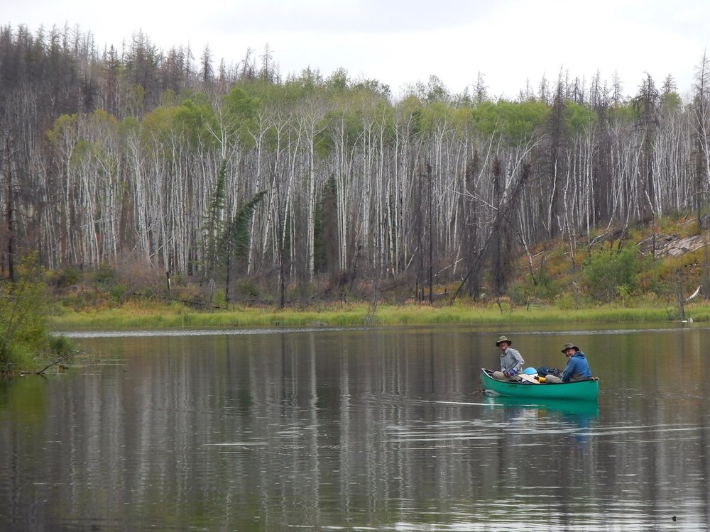 Patrick Mahaffey - Crossing a tiny unnamed lake near Besnard Lake on a 10-day canoe trip in northern Saskatchewan
