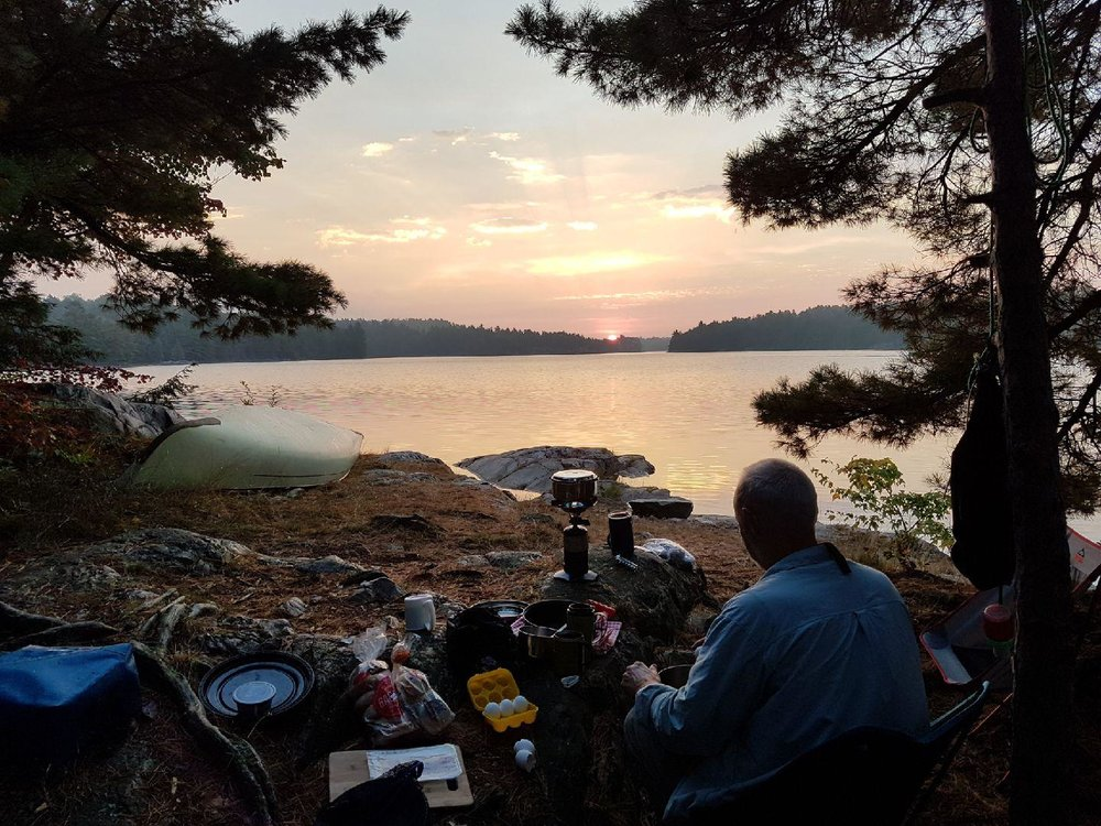 Mike Whitmarsh - Sunrise during the autumnal equinox 2017 - Bell Lake, Killarney Provincial Park, ON