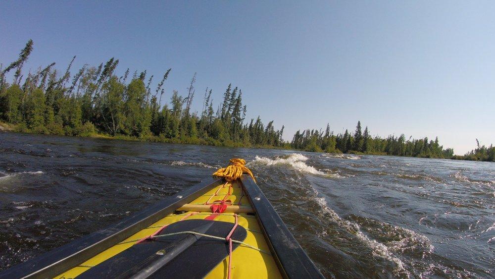 Randy Epp -Bottom of McDonald rapid heading for Barker Lake, outside of Missinipe,Sk