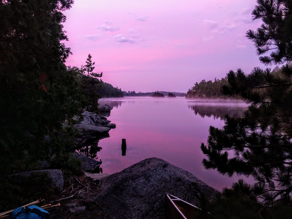 Kevin Ryckman - Temagami this summer on an early morning sunrise