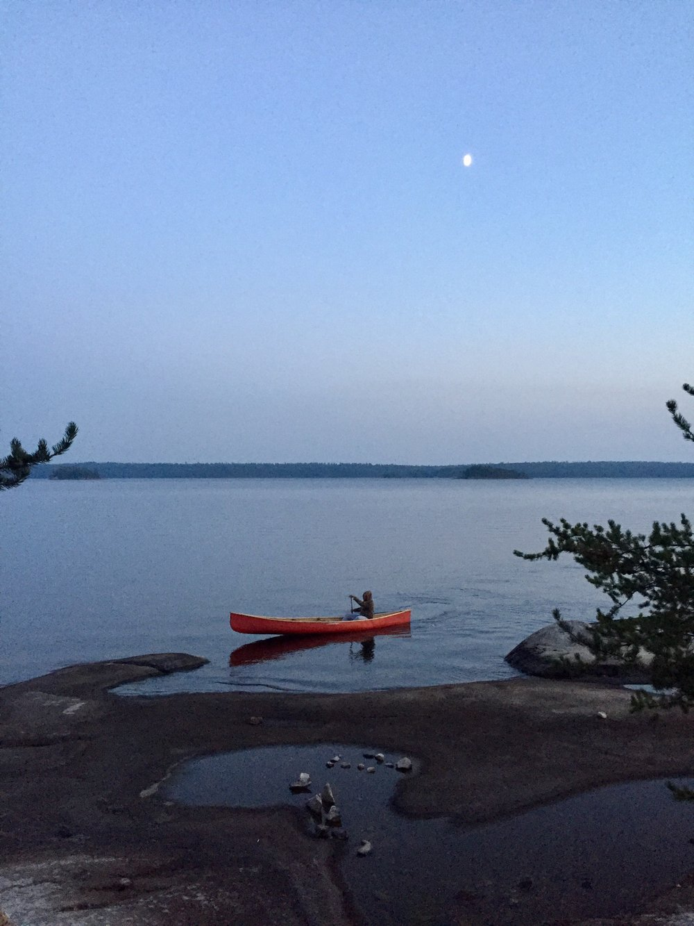 Mona Moquin - Our last night in Quetico on Batchewaung Lake