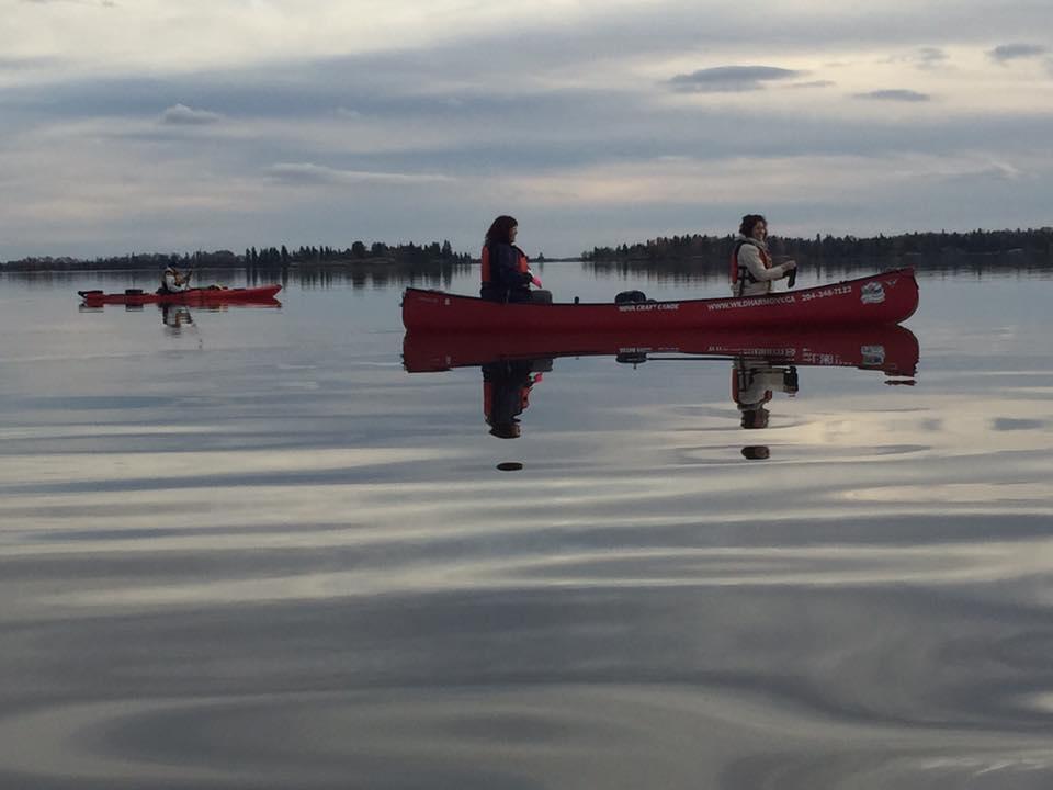 Debbie Paul -Late fall paddle. Beautiful day lac du bonnet Manitoba