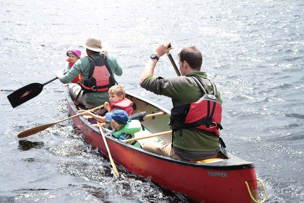Mike Kobzik - Full canoe on Mike Lake just outside of Algonquin Park