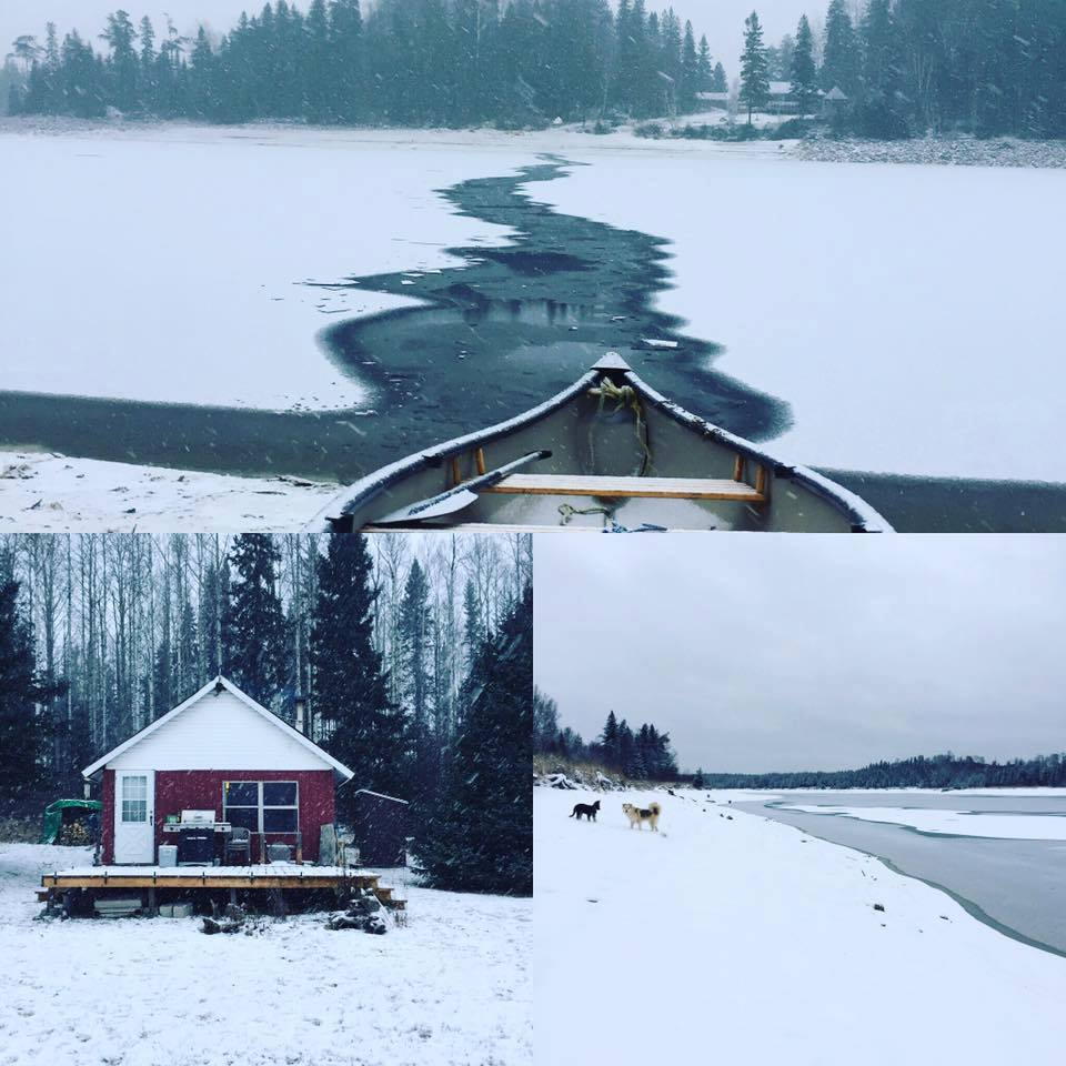 Brian F Lachine - A late winter paddle to my cabin