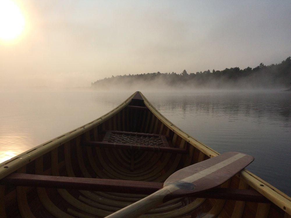 Joel Raskin -Koshlong Lake, Haliburton, Ontario. 7 am, morning fog