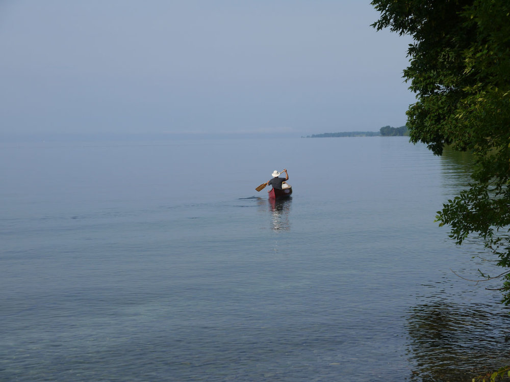 Linda Myers - My husband, Denis Myers, paddling on the St. Lawrence River near Wolfe Island