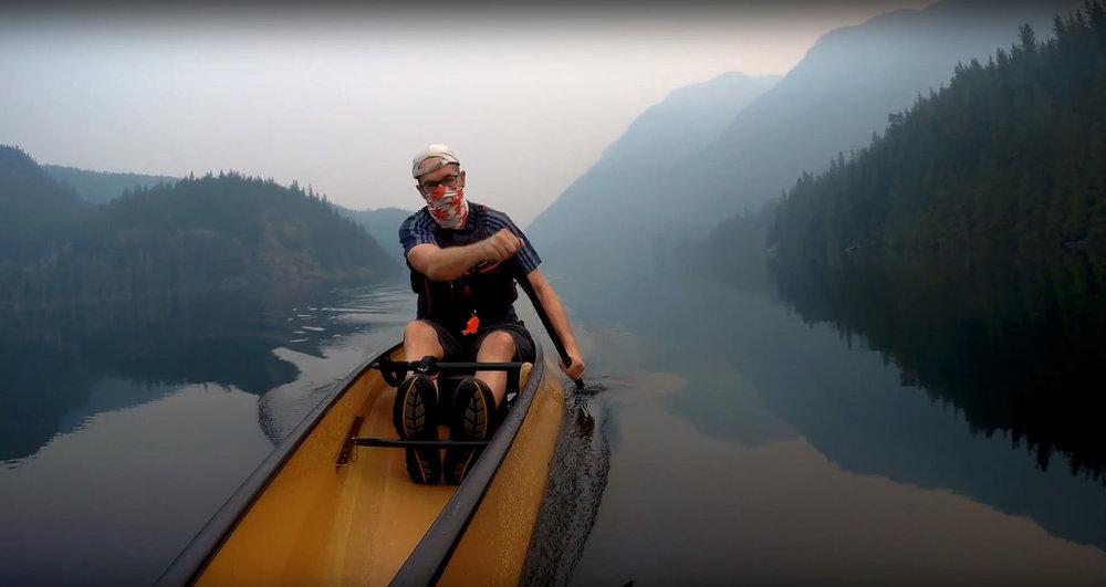 Jens Petersen -Getting in a workout despite the hazy, smokey skies. Buntzen Lake, BC