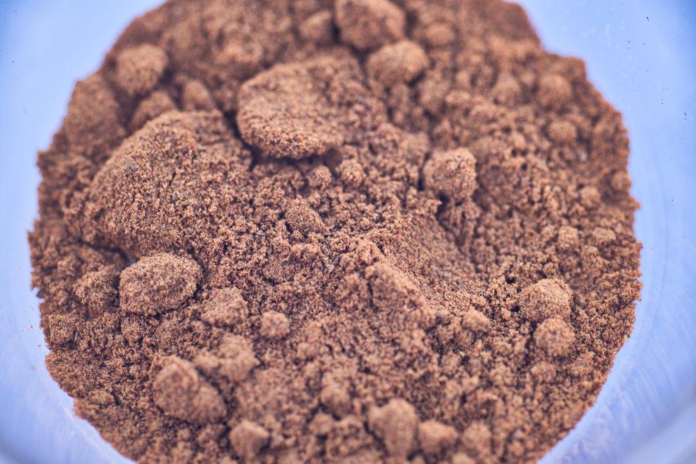 The powder up close