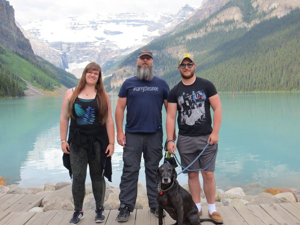 Sean Rowley from  Paddling Adventures Radio  posted: On NATIONAL CANOE DAY I am posting a photo of three of my most favourite paddling partners. My fourth favourite is taking this photo. Lake Louise, Alberta in the Canadian Rockies.