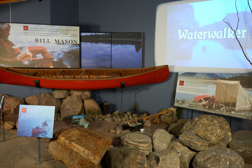 The Bill Mason Exhibit at the  Canadian Canoe Museum