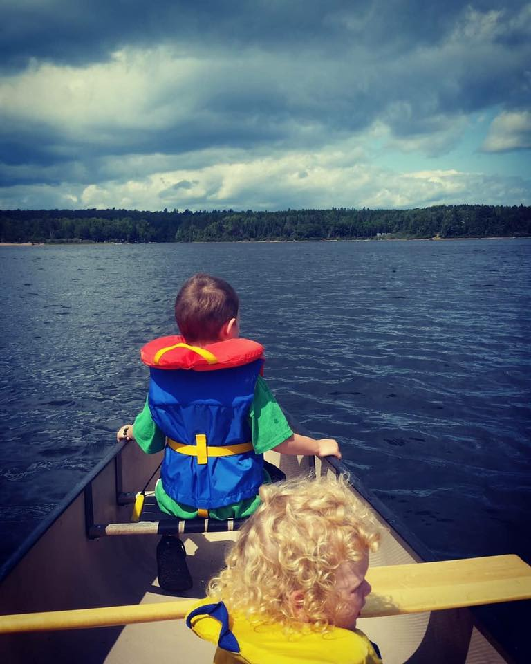 Jenna Marie - My 4 year-old twins on their first canoe trip. Eels Lake, Ontario