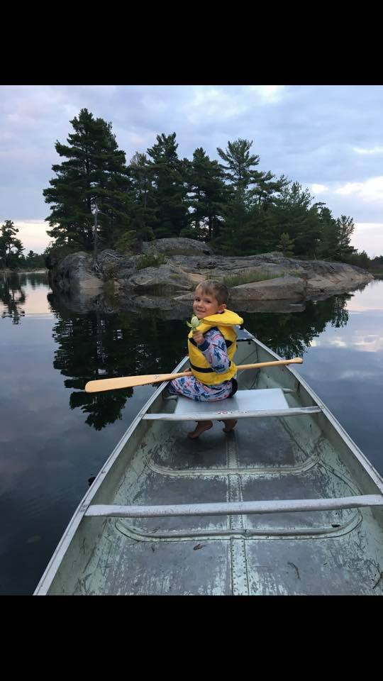 Michele Ashley - Evening paddle with my son, Norgate Inlet, Georgian Bay