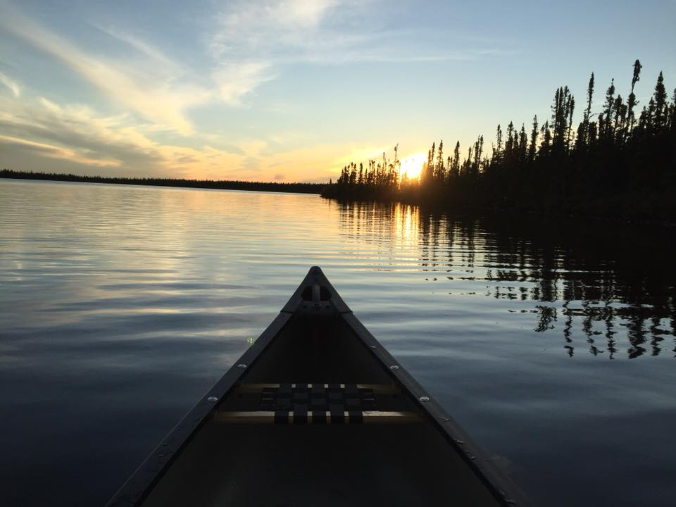 Jules Quachegan - Chisasibi, Northern Quebec, Canada. End of the day paddle.