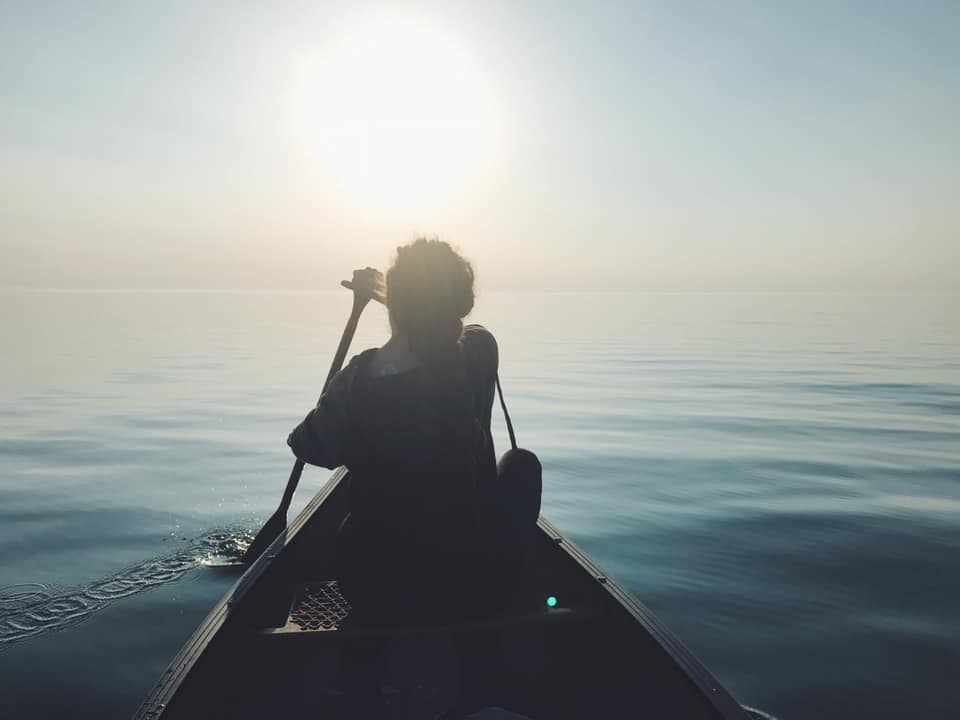 Aimée Hodgins - Canoeing the greats, Lake Huron