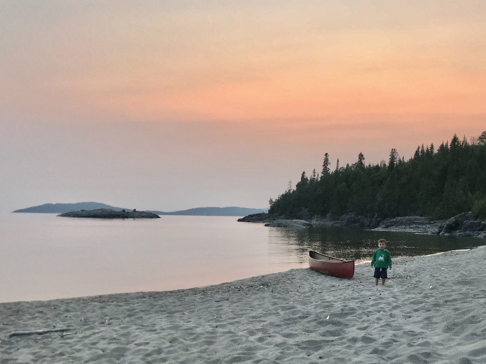 Monica Miller - Michipicoten Bay (Wawa), ON this summer on our way to Pukaskwa National Park