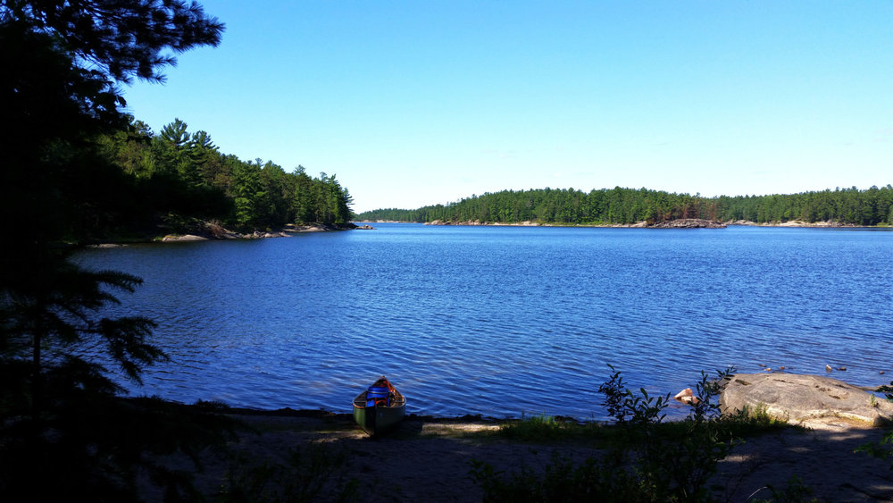 James vanRooy - near the beginning of the North Channel of the French River. This crown land beach / campsite was our lunch stop on day 2 of our 4 day trip around 18 Mile island.