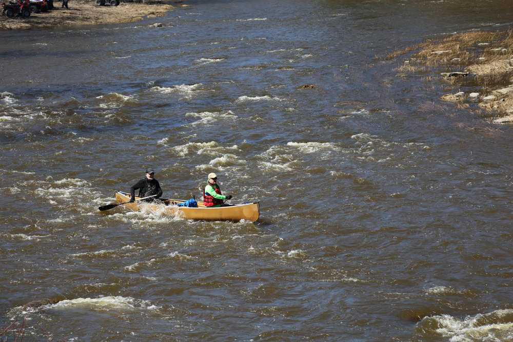 Jim Hendry - Raisin River Canoe Race in Saint Andrew's, Ontario