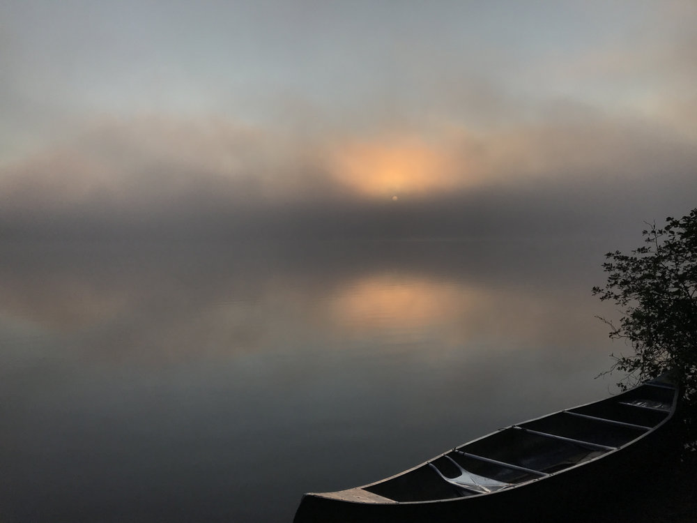 Adrian Clementino - Foggy mornings in camp call for longer coffee breaks! Photo shot on Big Trout L. In Algonquin Park
