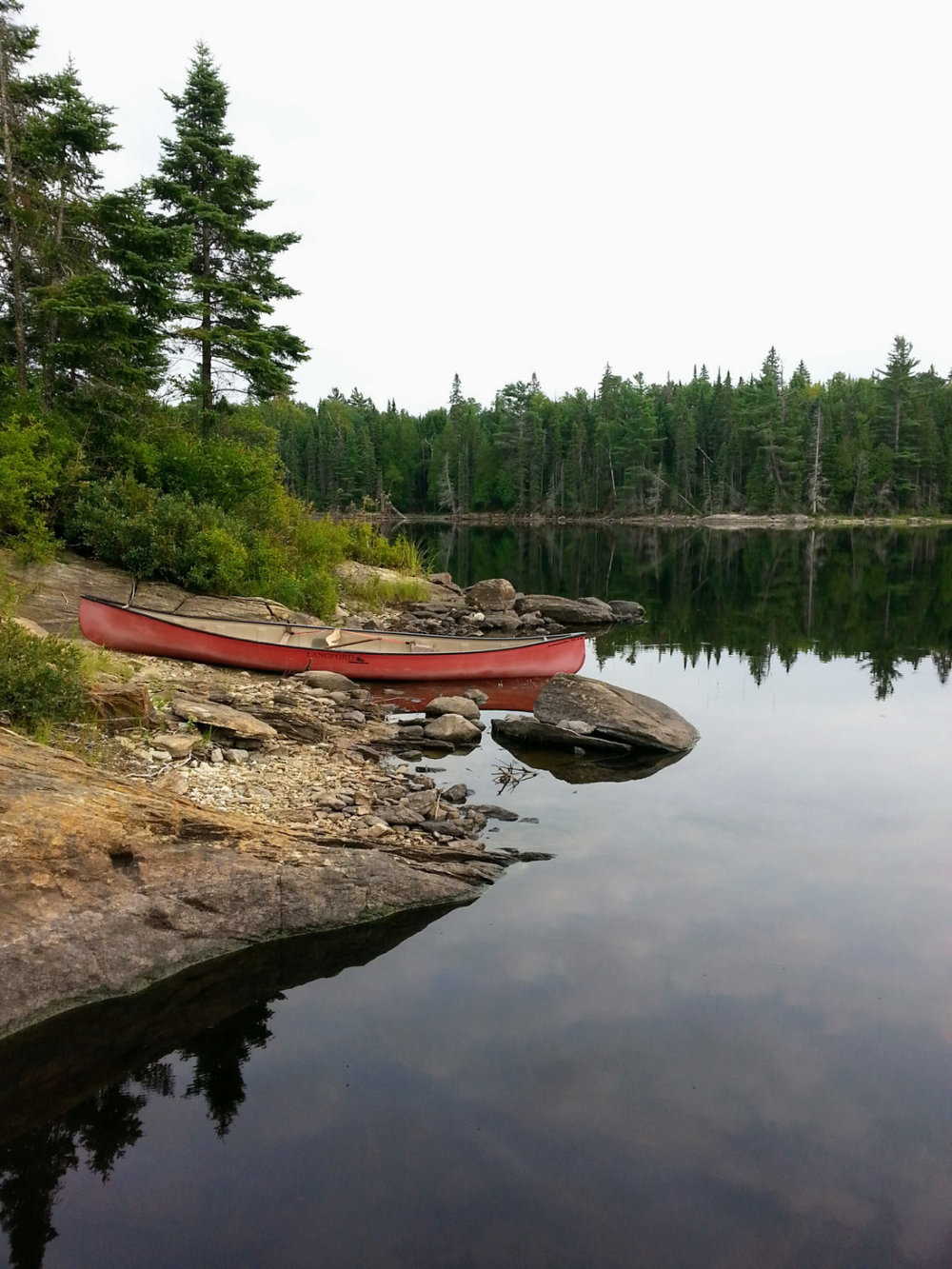 Colleen Worobess - Backcountry camping this past August 2018 at Big Bob Lake in Algonquin Park
