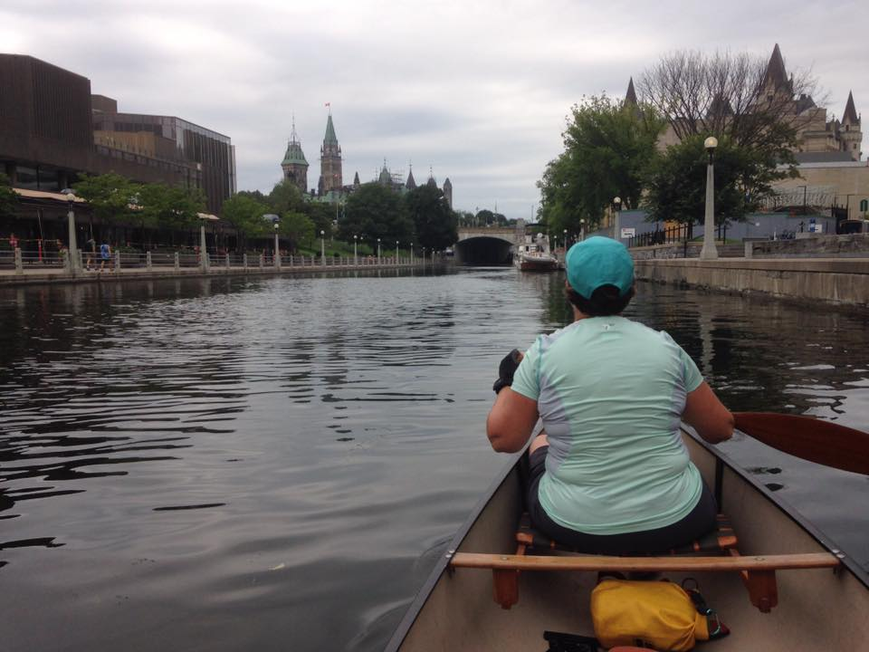Dan Markovich - End of Kingston to Ottawa Rideau trip - approaching Parliament Hill