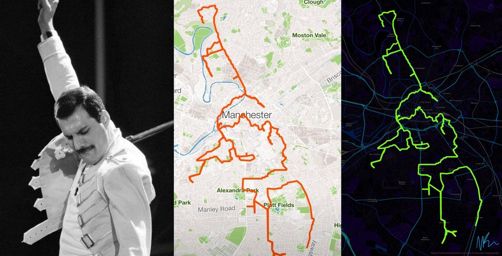 From inspiration to Strava GPX to final art piece.