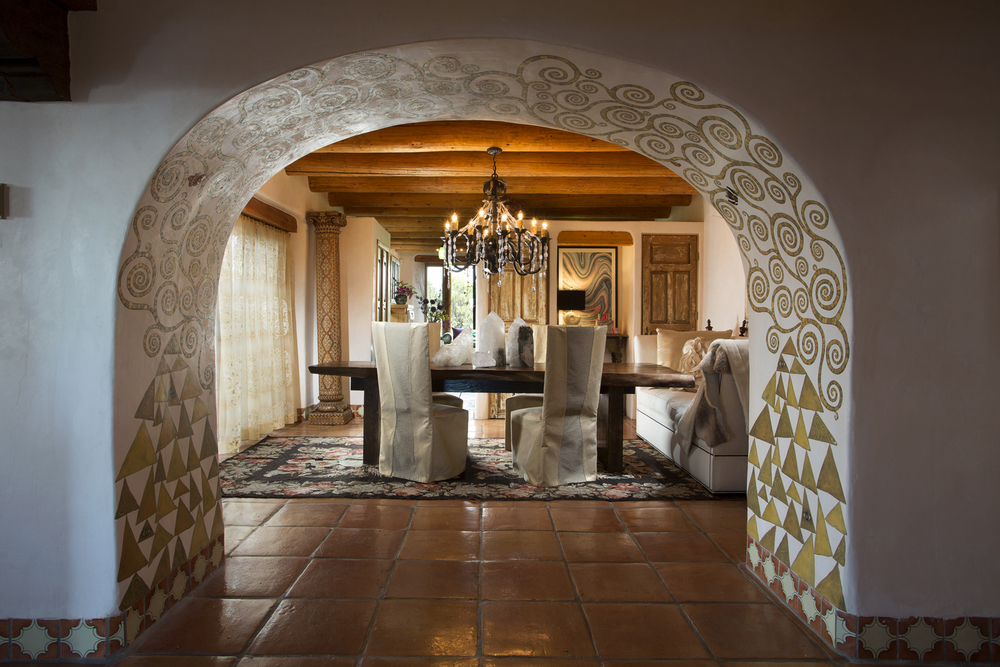 Dining Room Interiors by David Naylor and Jennifer Ashton for Show House Santa Fe 2013. Photo by Kate Russell
