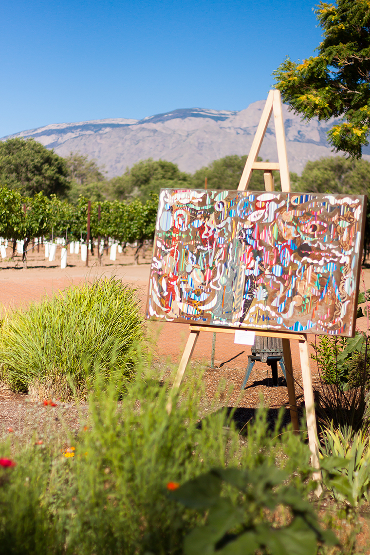 Milagro Vineyards, featured artist Jason Appleton - Photo by Stephanie Cameron