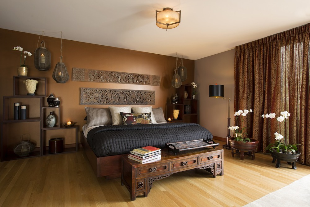 Ancient Asian Master Suite Interiors by Jennifer Ashton, Photo by Kate Russell for ShowHouse Santa Fe 2014