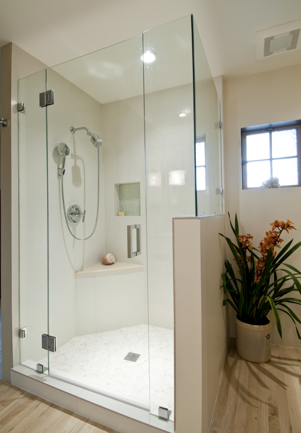 Master Walk In Shower Design by Jennifer Ashton, Allied ASID