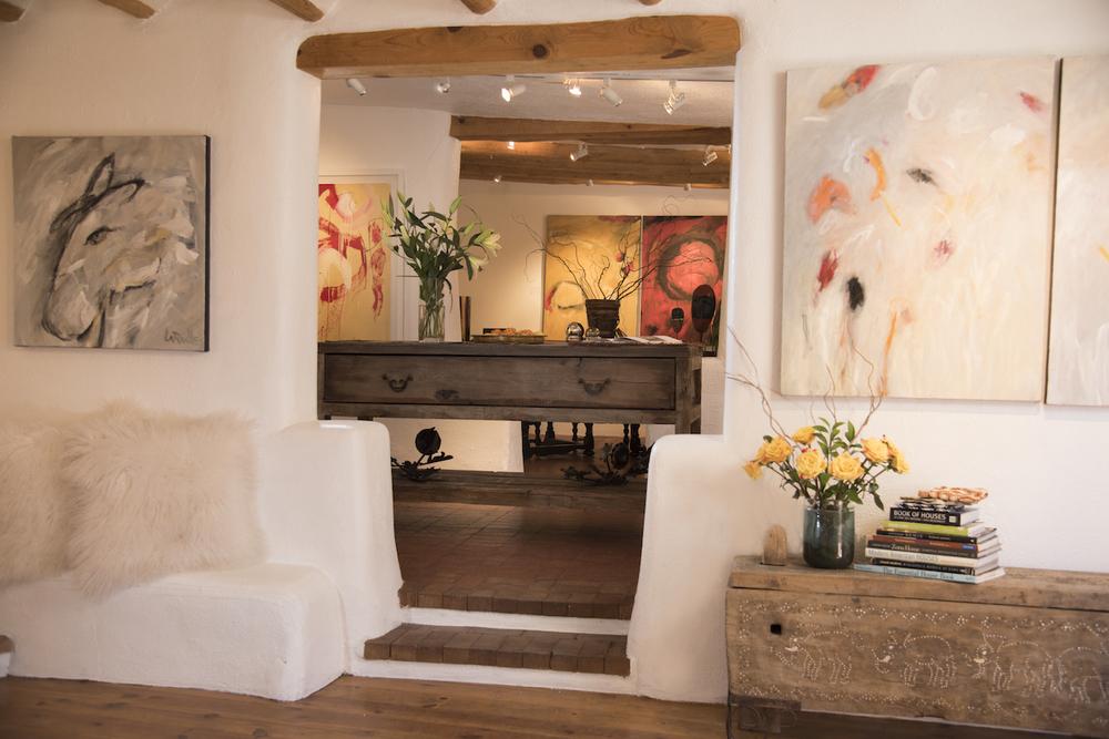 Jennifer Ashton Interiors, an Art + Design Studio featuring artist Carole La Roche, Photo by Laurie Allegretti