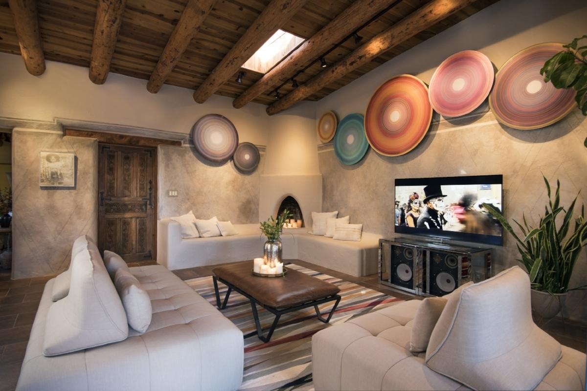 Santa fe style interior design -  Showhouse Santa Fe 2016 Family Room By Jennifer Ashton Interiors