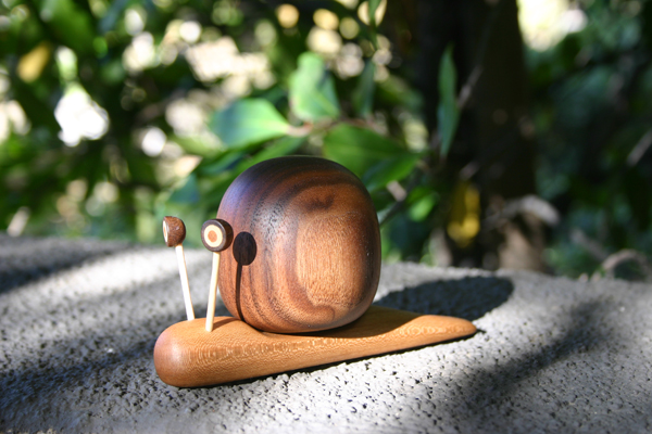 Wood Carving Object Snail