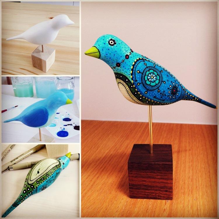 Paper Clay Bird
