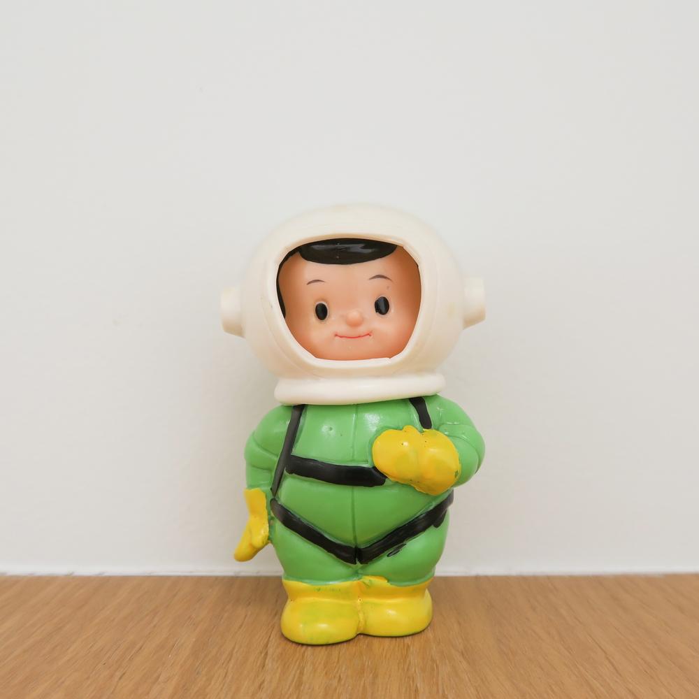 "Space Boy (宇宙坊や ) 1960~ Kokumin Bank こくぎん 国民銀行 3.9"" Tall (100mm)"