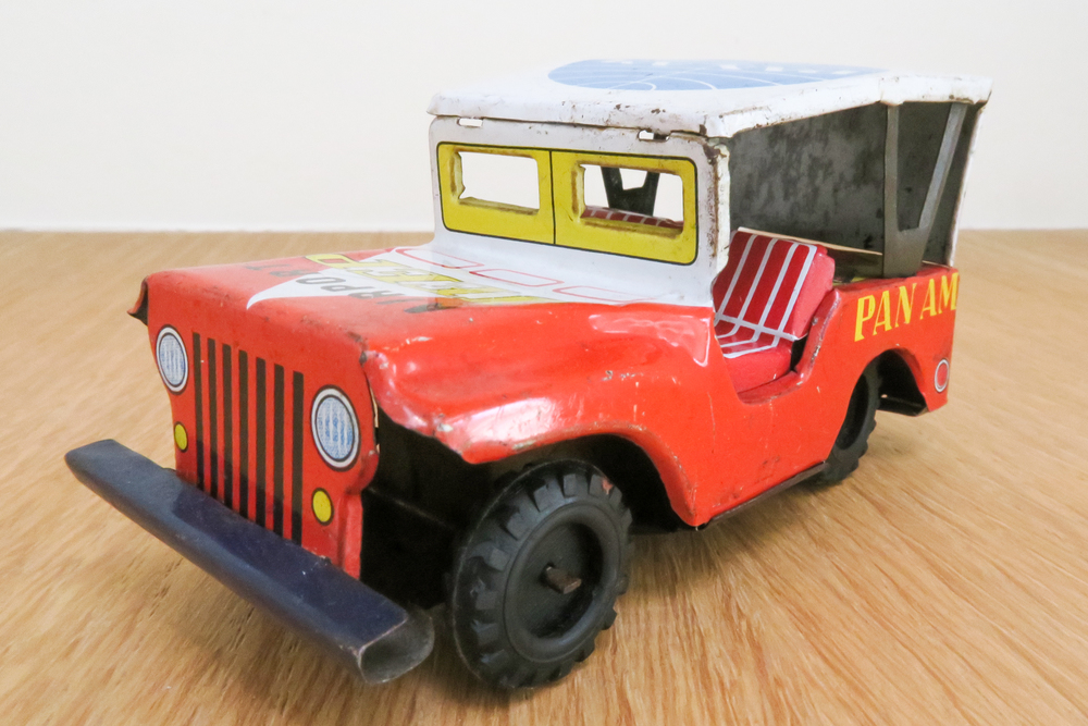 Pan Am - Airport Jeep   Manufacturer  ?  Made in Japan 1960~