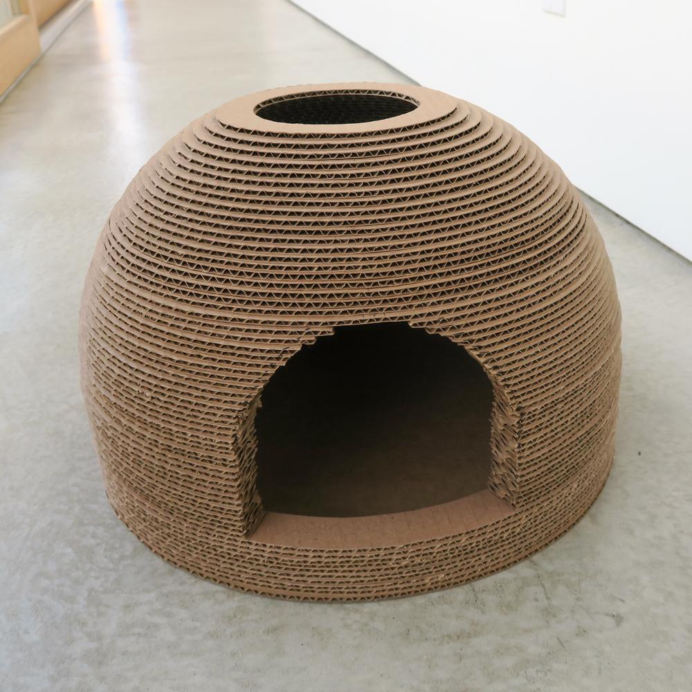 Cardboard Cat Scratcher Dome House 05