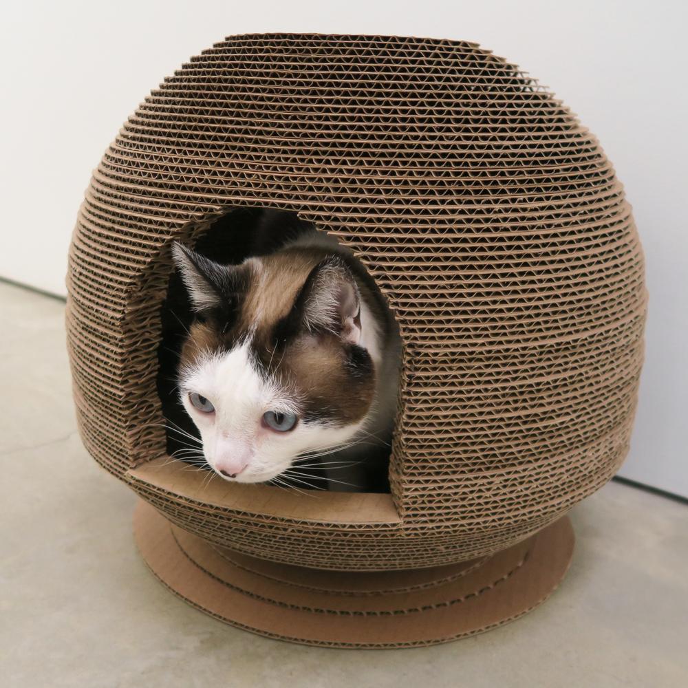 Cardboard Cat Scratcher Dome House 13