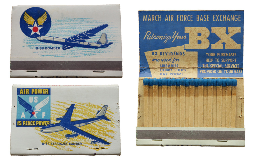March Air Force Base - Base Exchange : B-36 and B-47