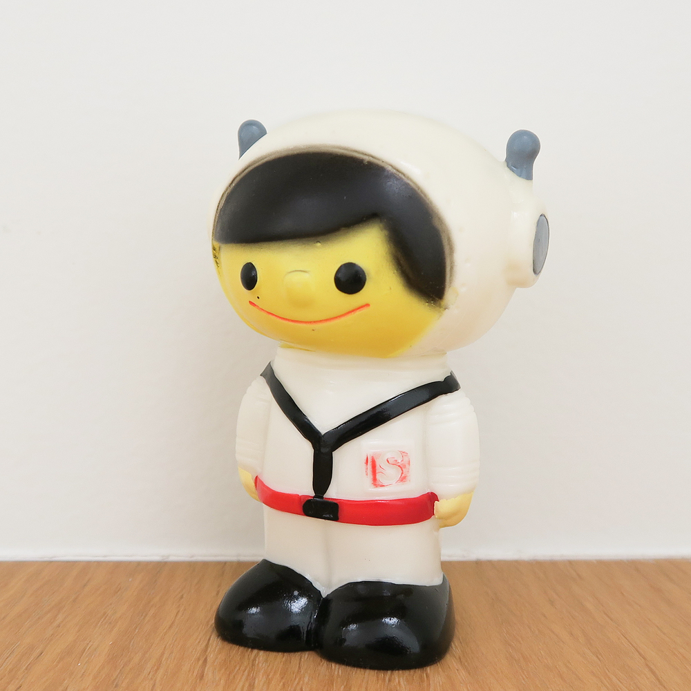 "Space Boy (  宇宙坊や   ) Coin Bank 1960~   Shinwa Bank   親和銀行  3.5"" Tall (90mm)"